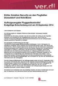 Kötter Auftragsvergabe 15.09.2014