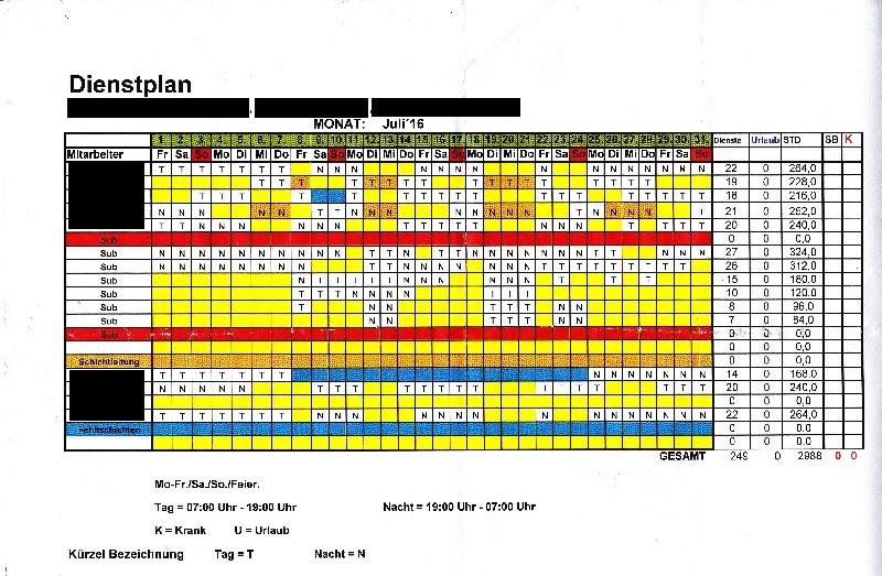 Dienstplan 1