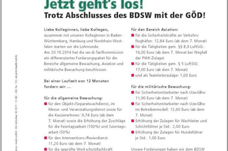Tarifforderung Niedersachsen