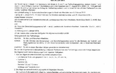 Jetzt im Bundesanzeiger: LTV NRW allgemeinverbindlich