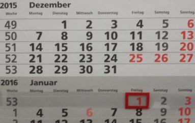 Infos zum Jahreswechsel
