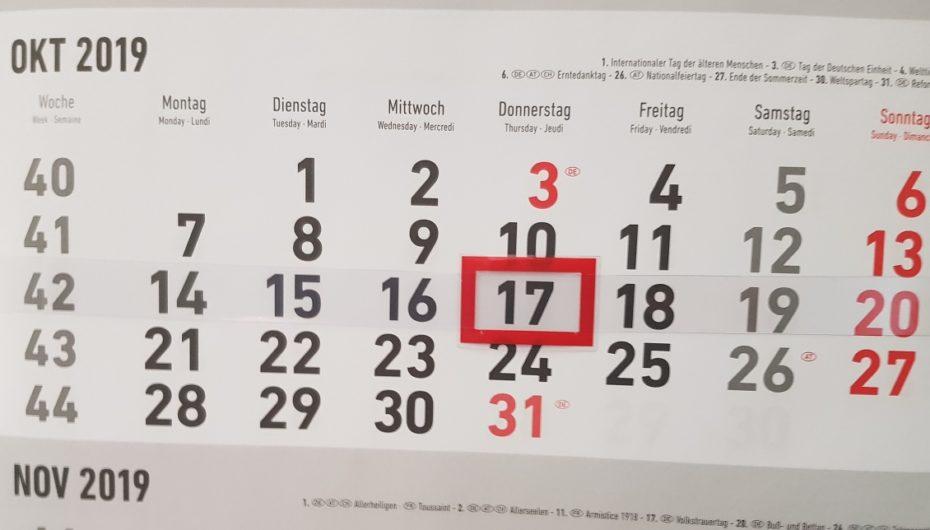 Nächstes wasi-Treffen am 17. Oktober