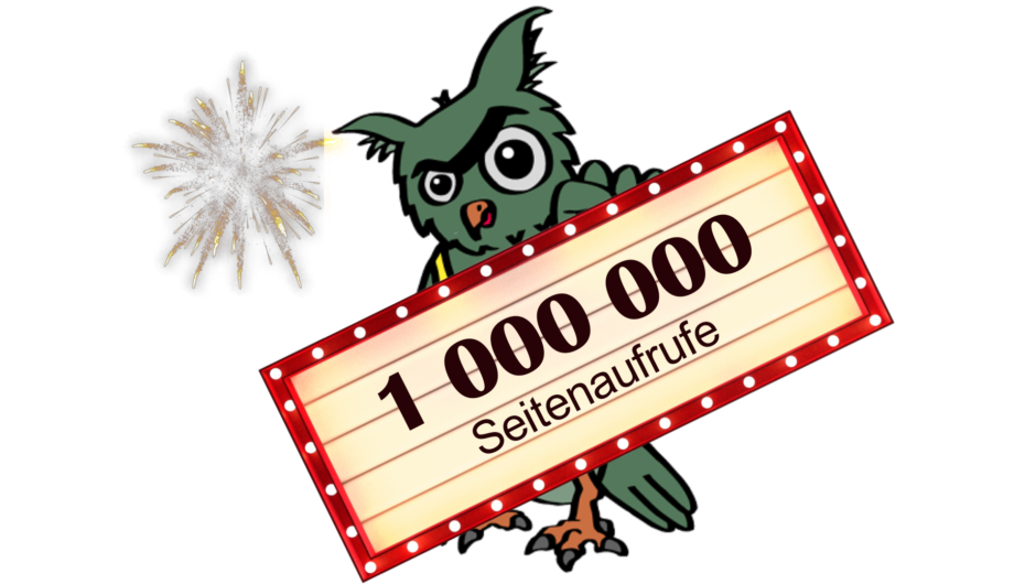 In eigener Sache: Über 1 Million Seitenaufrufe!